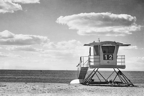 Number 12 - B&W- Beach Photography - Kelly*N Photography - 1