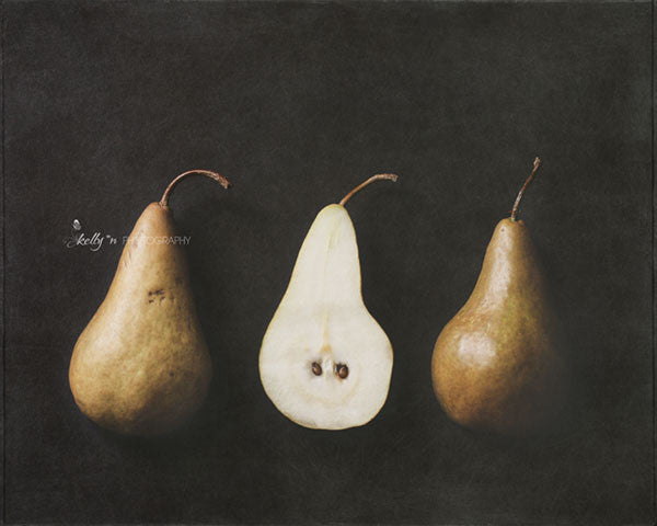 Pear Halves - Still Life Photography