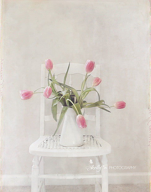 Spring Chair- Tulip Still Life Photo - Kelly*N Photography - 1