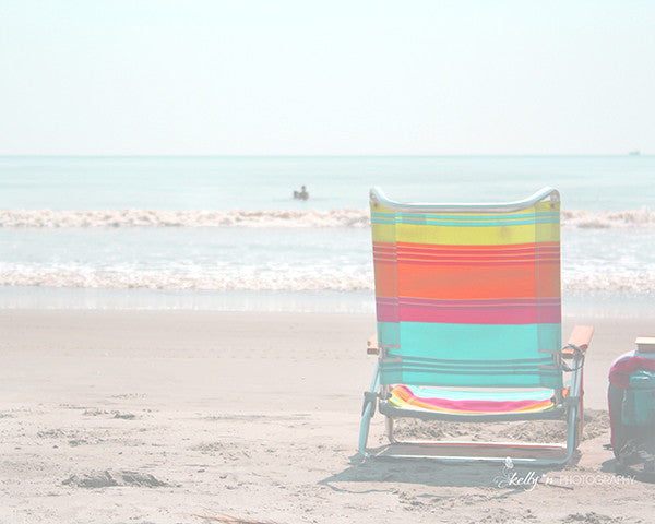 Summer Lite Chair- Beach Chair Photograph - Kelly*N Photography - 1