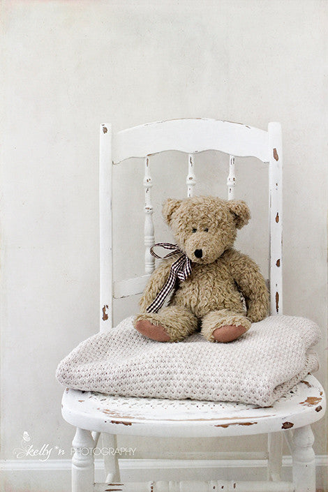 Teddy Chair- Teddy Bear Photograph - Kelly*N Photography - 1