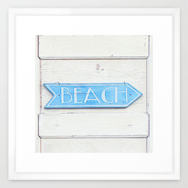Beach This Way- Beach Sign Print - Kelly*N Photography - 2