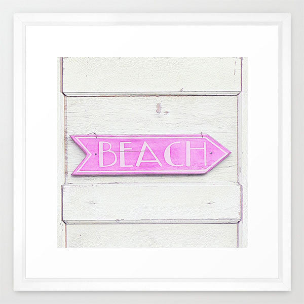 Beach This Way- Beach Sign Print - Kelly*N Photography - 4