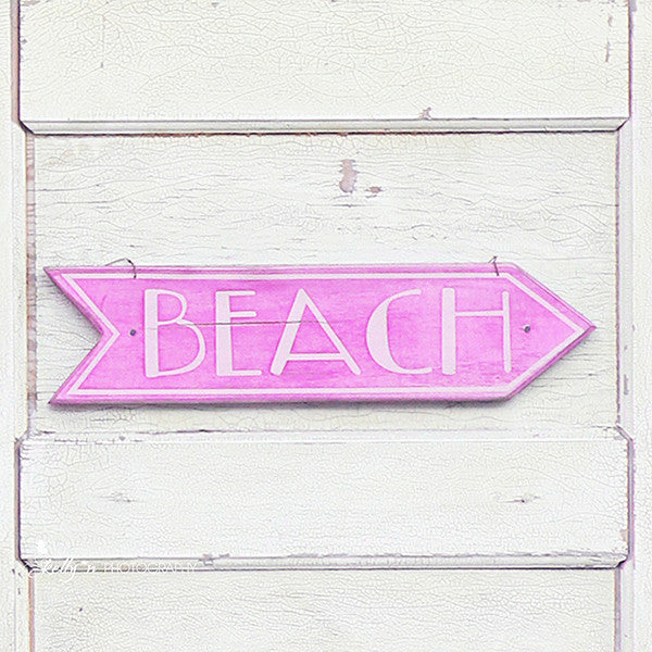 Beach This Way- Beach Sign Print - Kelly*N Photography - 3
