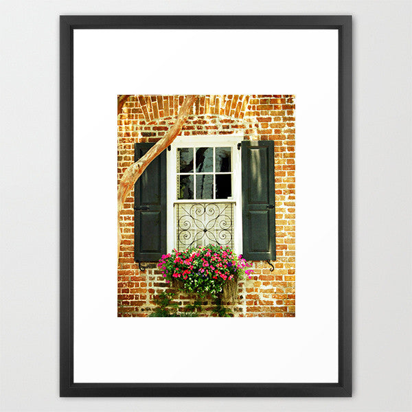 Brick and Black- Charleston Window Photograph - Kelly*N Photography - 2