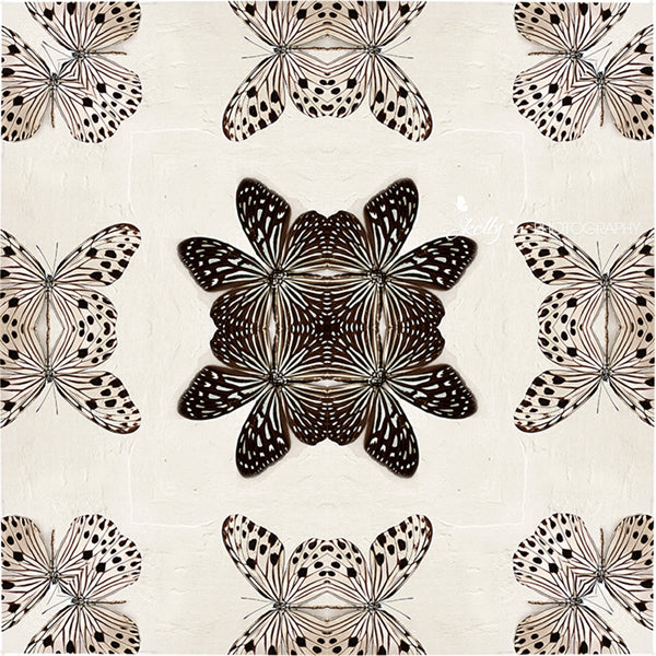 Butterfly Kaleidoscope 1 - Black and White Photography
