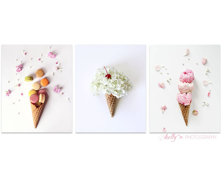 Cone Print Set of 3 - Still Life Photography - Kelly*N Photography - 1