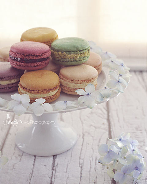 Floral Macaron Plate- Floral Still Life Print - Kelly*N Photography - 1