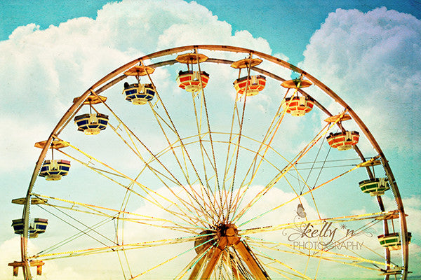 Head in the Clouds- Ferris Wheel Photograph - Kelly*N Photography - 1