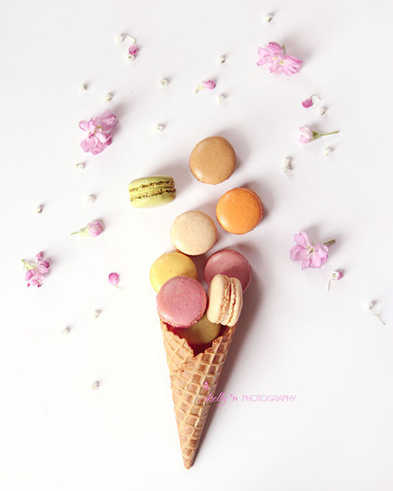 Macaron Cone- Food Photography - Kelly*N Photography - 1