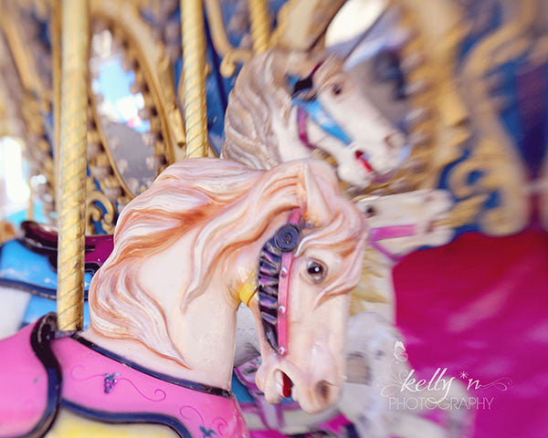 Pink Horse 2 - Carousel Photography