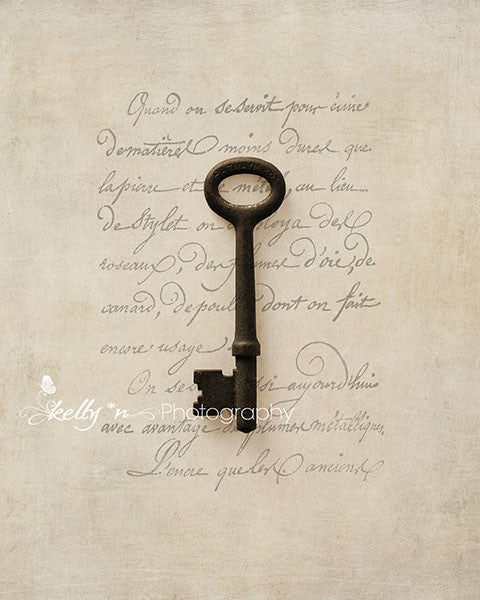 Solo Key Scripted- Key Still Life Photo - Kelly*N Photography - 1