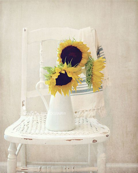 Sunny Chair- Floral Still life Photo - Kelly*N Photography - 1