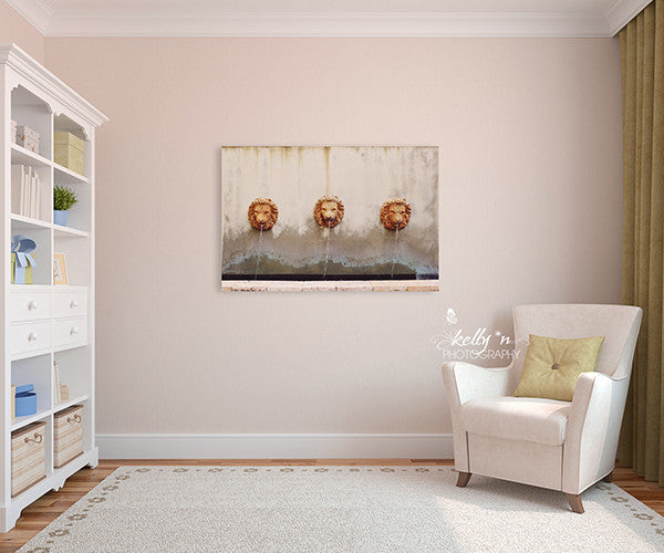 Three Lion Fountain - Canvas Gallery Wrap - Kelly*N Photography - 1