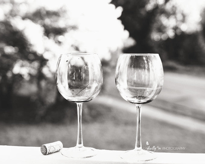 Glassware Photo - Black and White Photography