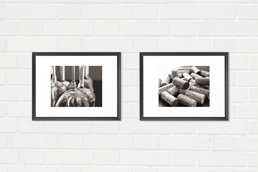 Bar Photography - Two Print Set - Black and White Photography - Kelly*N Photography - 2