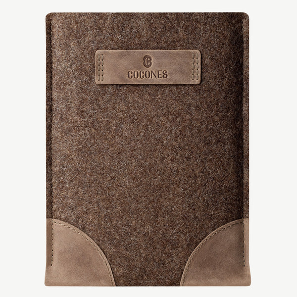 Cocones iPad Sleeve - Deep Caramel / ships in 1 week