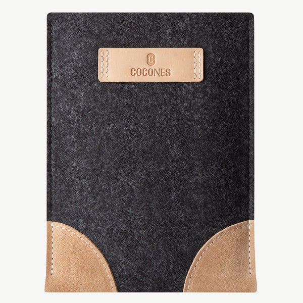 Cocones iPad Sleeve - Smokey Grey / Natural