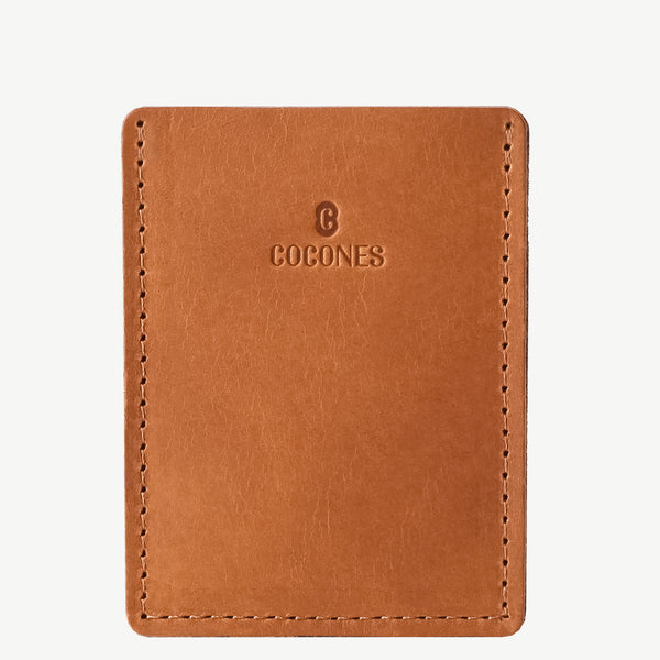 Cocones Card Wallet - Smokey Grey / Tan