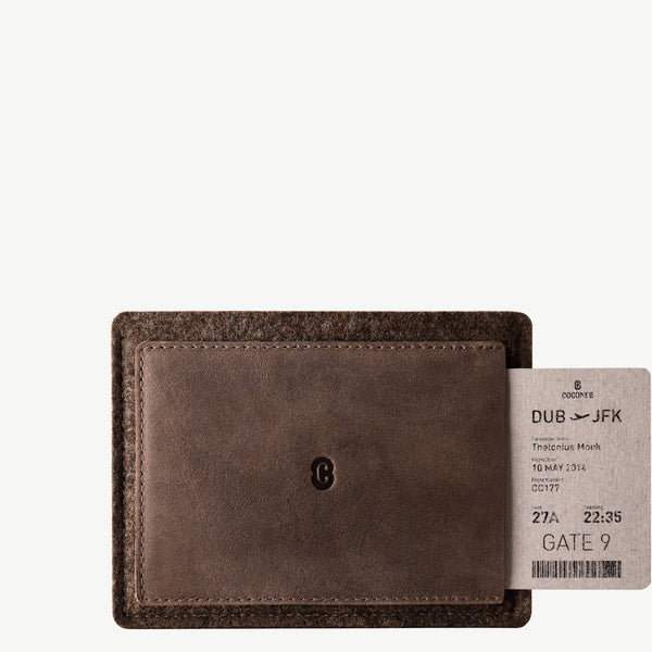 Cocones Passport Wallet - Deep Caramel