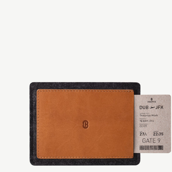Cocones Passport Wallet - Smokey Grey / Tan