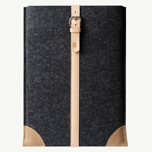 Cocones MacBook Air / Pro Sleeve - Smokey Grey / Natural