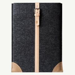 "Wool felt premium leather sleeve | MacBook Air, Pro, 11"", 13"", 15"" Retina Smokey Grey / Natural"