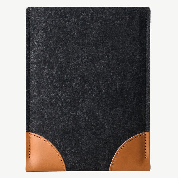 Cocones iPad Pro / Air / mini Sleeve - Smokey Grey / Tan