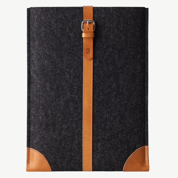 Cocones MacBook Sleeve - Smokey Grey / Tan