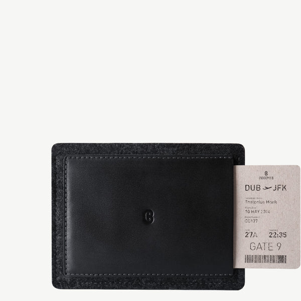 Cocones Passport Wallet - Smokey Grey / Black