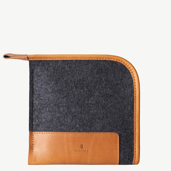 Cocones Compact Case - Smokey Grey / Tan