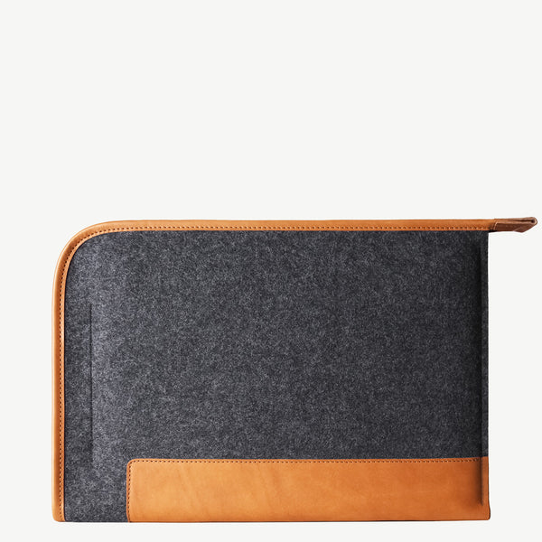 Cocones Grapher Folio Case - Smokey Grey / Tan