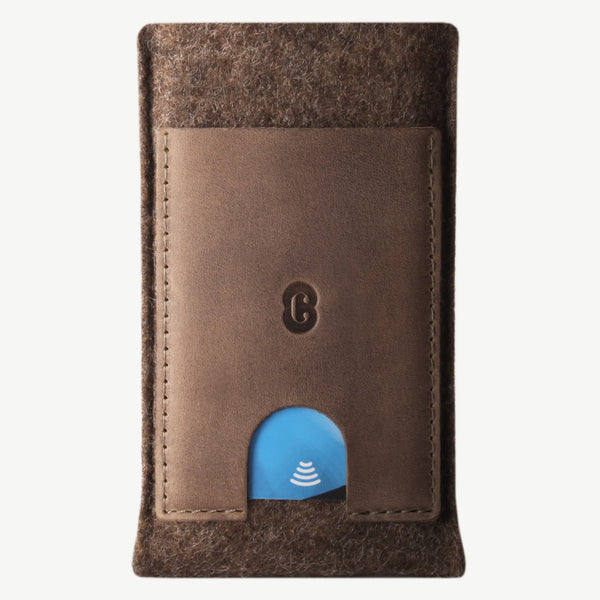 Cocones Card Wallet Sleeve - Deep Caramel