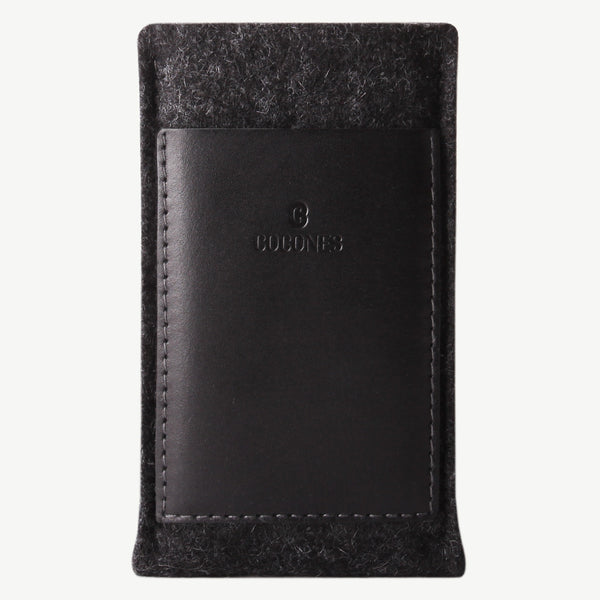 Cocones Card Wallet Sleeve - Smokey Grey / Black
