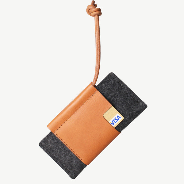 Cocones Loop Wallet Case - Smokey Grey / Tan