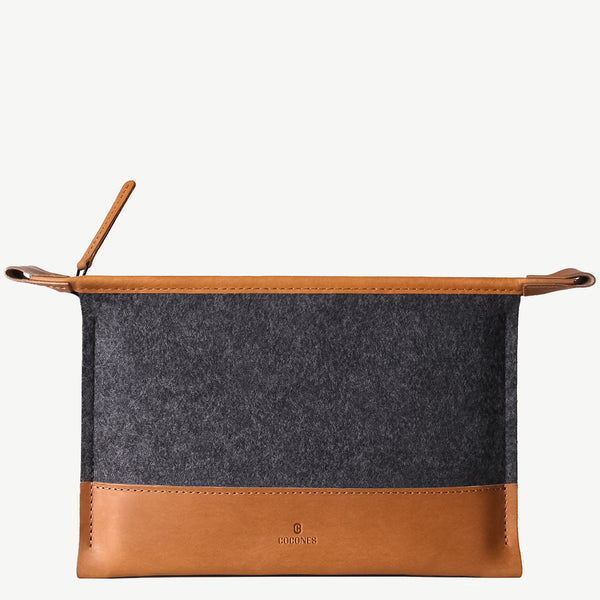 Cocones Mini Folio Case - Smokey Grey / Tan