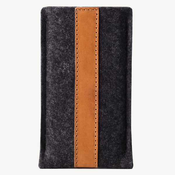 Cocones iPhone Sleeve - Smokey Grey / Tan