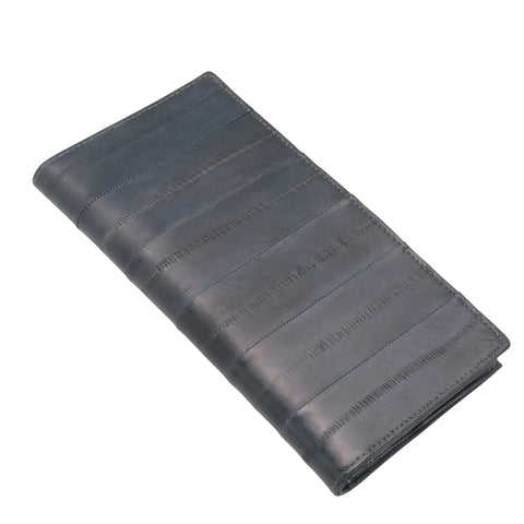 Grey Eel Skin Wallet