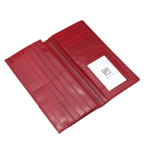 Red Eel Skin Standard Wallet