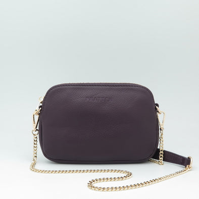 Plum Leather Sweetheart Bag