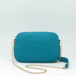Teal Leather Sweetheart Bag