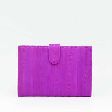 Hot Pink Eel Skin Mini Wallet