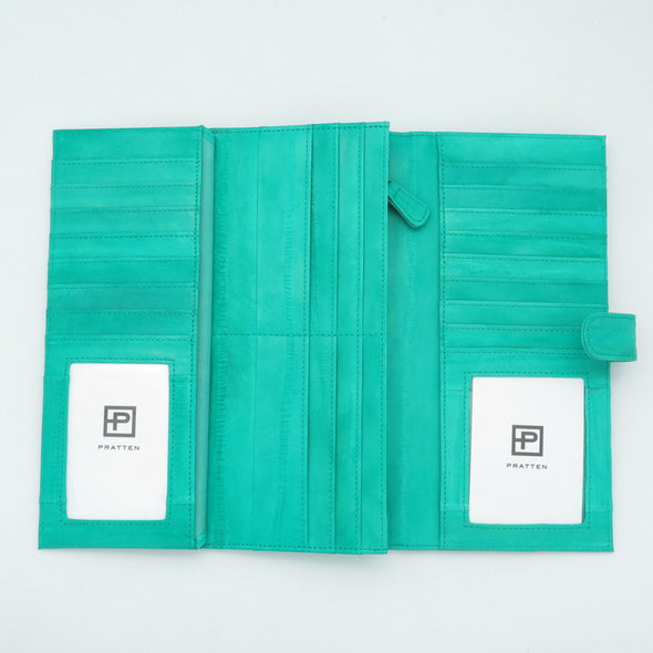 Seafoam Eel Skin Flip Wallet PRE ORDER available end of August