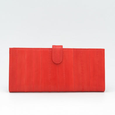 Orange Eel Skin Flip Wallet
