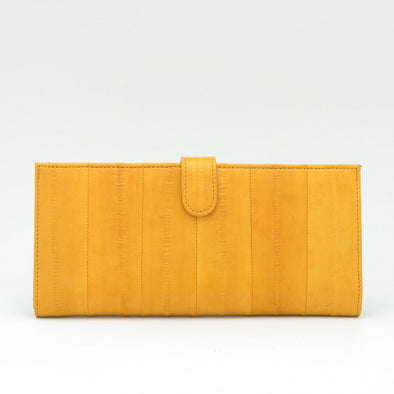 Yellow Eel Skin Flip Wallet