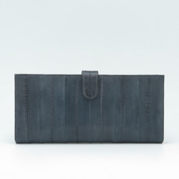 Grey Eel Skin Flip Wallet