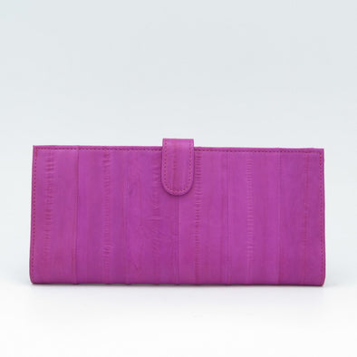 Hot Pink Eel Skin Flip Wallet