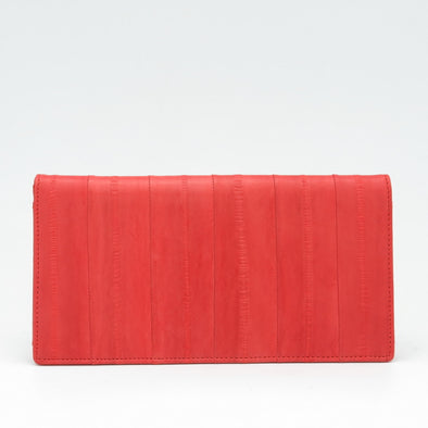 Orange  Eel Skin Standard Wallet