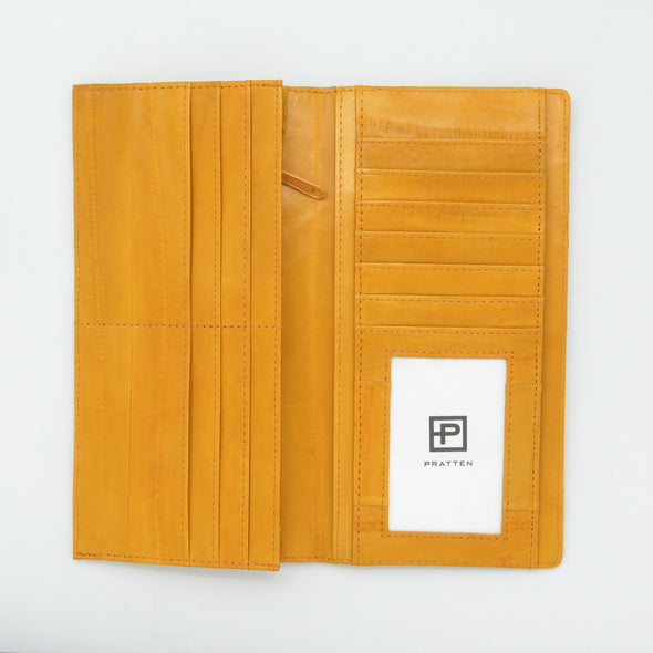 Yellow Eel Skin Standard Wallet