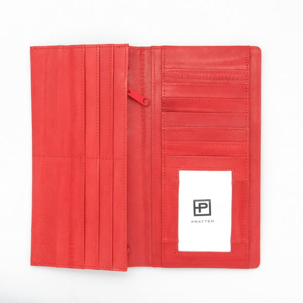 Orange  Eel Skin Wallet